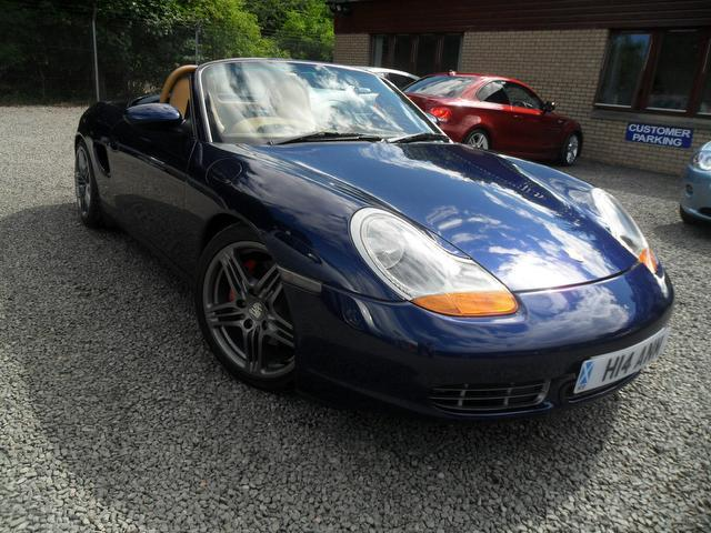 Used Porsche Boxster 2001 Blue Convertible Petrol Manual for Sale