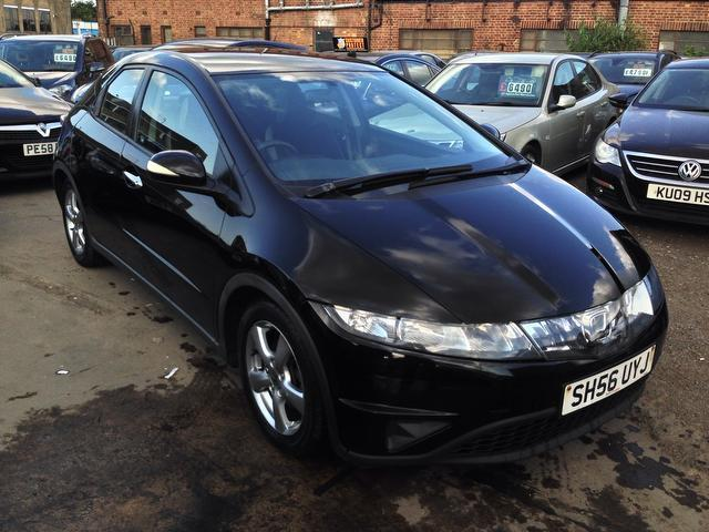 used black honda civic 2006 petrol 1 8 i vtec se 5dr hatchback excellent condition for sale. Black Bedroom Furniture Sets. Home Design Ideas