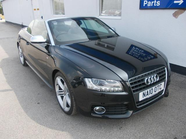 used audi a5 car 2010 black diesel 2 0 tdi s line convertible for sale in wirral uk autopazar. Black Bedroom Furniture Sets. Home Design Ideas