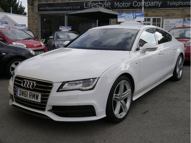 used audi a7 2011 automatic diesel 3 0 tdi s line white for sale uk autopazar. Black Bedroom Furniture Sets. Home Design Ideas