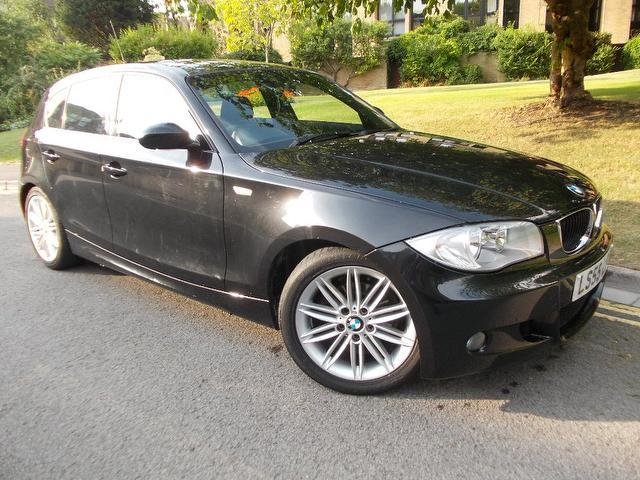 used bmw 1 series 2005 black paint petrol 116i m sport. Black Bedroom Furniture Sets. Home Design Ideas