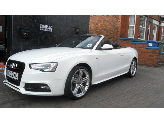 used audi a5 2012 model 2 0 tdi 177 s diesel convertible white for sale in stockport uk autopazar. Black Bedroom Furniture Sets. Home Design Ideas