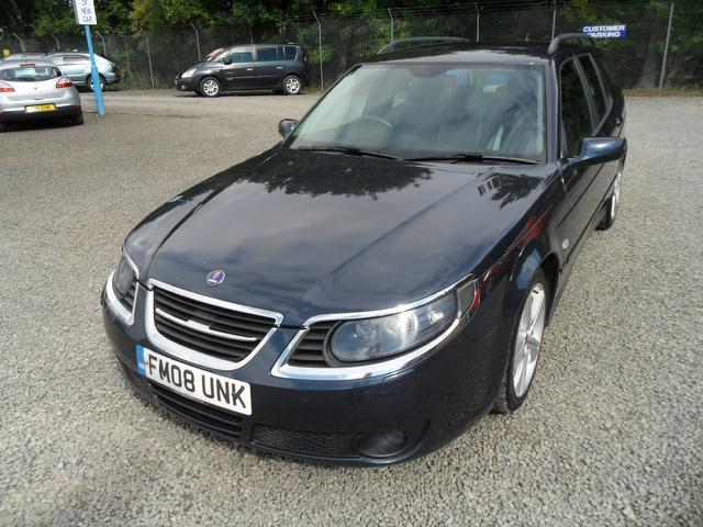 used blue saab 9 5 2008 petrol aero anniversary 5dr estate in great condition for sale. Black Bedroom Furniture Sets. Home Design Ideas