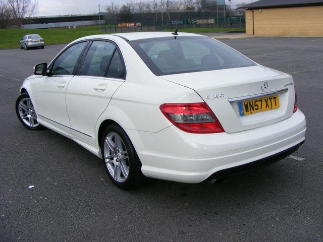 Mercedes c class white for sale in uk for Mercedes benz c class sport for sale