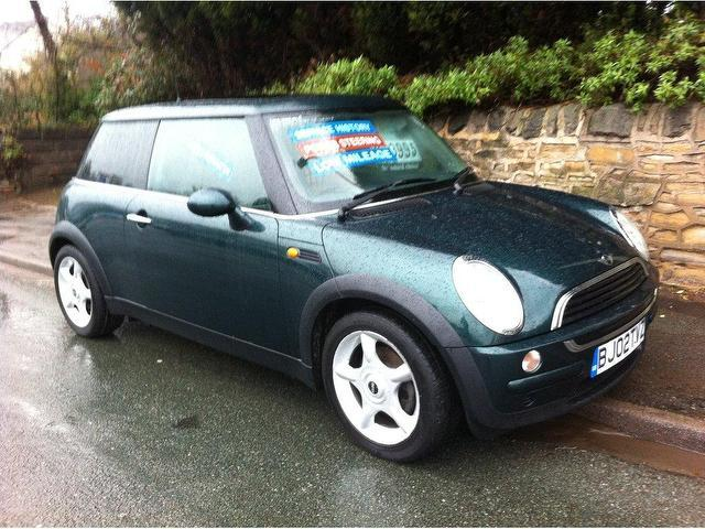 used mini hatch one 1 6 3 door hatchback green 2002 petrol for sale in