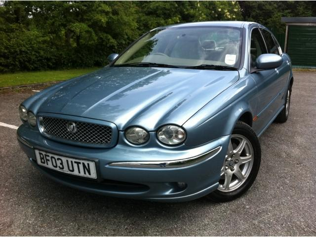 used jaguar x type 2003 petrol 2 0 v6 4dr saloon blue. Black Bedroom Furniture Sets. Home Design Ideas