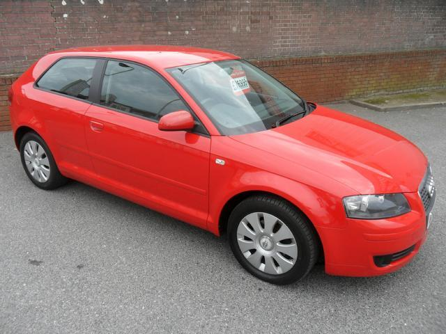 used audi a3 2006 petrol 1 6 special edition 3dr hatchback red with climate control panel for. Black Bedroom Furniture Sets. Home Design Ideas