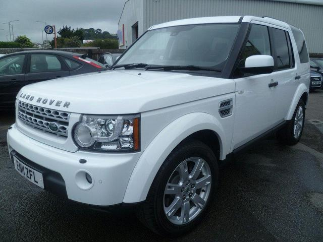 used land rover discovery car 2011 white diesel 3 0 sdv6 255 4x4 for sale in penzance uk autopazar. Black Bedroom Furniture Sets. Home Design Ideas