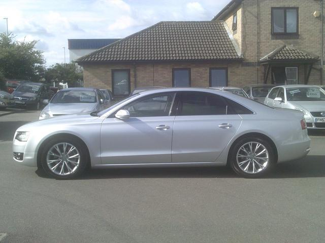 Used Audi A8 3.0 Tdi Quattro Se Saloon Silver 2010 Diesel for Sale in UK