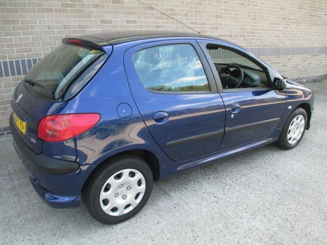 Used Peugeot 206 1.4 S 5 Door  Hatchback Blue 2005 Petrol for Sale in UK