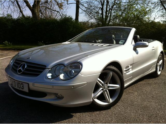 used mercedes benz 2005 model class sl 350 2dr petrol convertible silver for sale in stoke on. Black Bedroom Furniture Sets. Home Design Ideas