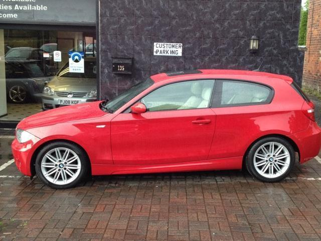 used bmw 1 series 2008 diesel 118d m sport hatchback red manual for sale in stockport uk autopazar. Black Bedroom Furniture Sets. Home Design Ideas
