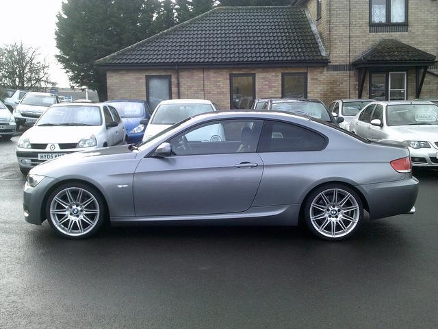 used grey bmw 3 series 2009 diesel 325d m sport coupe. Black Bedroom Furniture Sets. Home Design Ideas