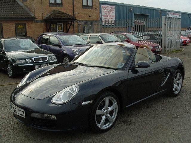 used porsche boxster car 2006 grey petrol 2 7 245 2 door convertible for sale in fengate uk. Black Bedroom Furniture Sets. Home Design Ideas