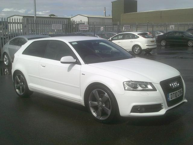 used audi a3 2010 diesel 2 0 tdi black edition hatchback white for sale in fengate uk autopazar. Black Bedroom Furniture Sets. Home Design Ideas