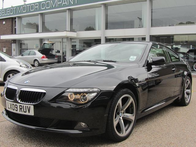 used bmw 6 series 2009 diesel 635d sport 2dr coupe black. Black Bedroom Furniture Sets. Home Design Ideas