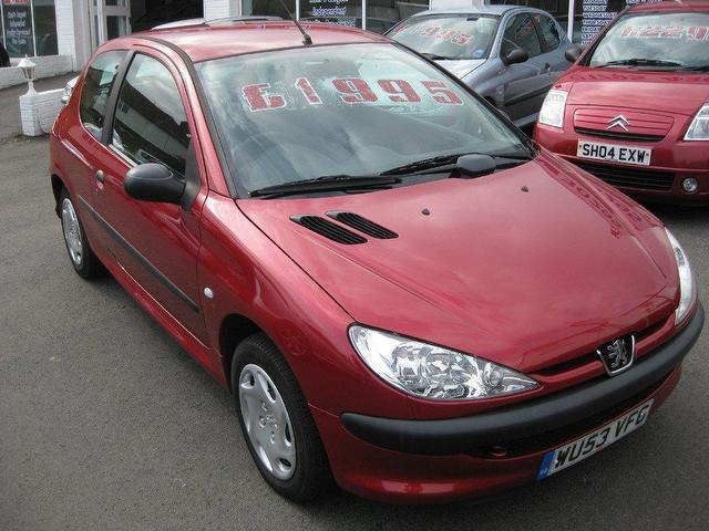 used peugeot 206 2003 petrol 1 1 style 3dr hatchback red manual for rh autopazar co uk peugeot 206 manual 2003 peugeot 206 manual 2003 pdf