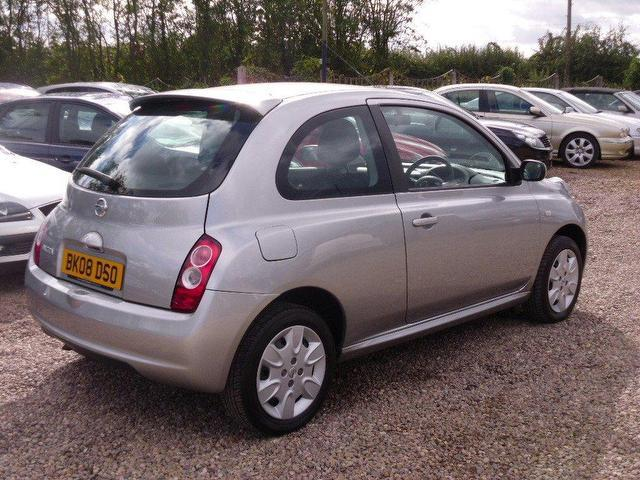 Used Nissan Micra 1.2 Acenta 3 Door With Hatchback Silver 2008 Petrol for Sale in UK