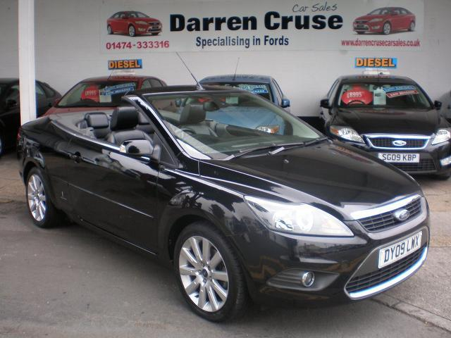 used 2009 ford focus convertible black edition 2 0 tdci cc 3 2dr diesel for sale in gravesend uk. Black Bedroom Furniture Sets. Home Design Ideas