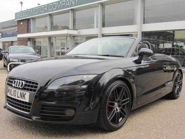 used audi tt 2010 model fsi s line petrol convertible black for sale in sevenoaks uk. Black Bedroom Furniture Sets. Home Design Ideas