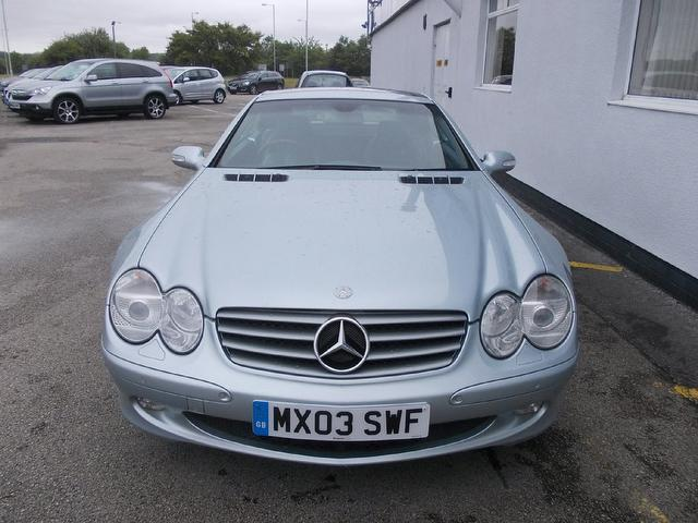 used mercedes benz 2003 petrol class sl 500 2dr convertible silver edition for sale in wirral uk. Black Bedroom Furniture Sets. Home Design Ideas