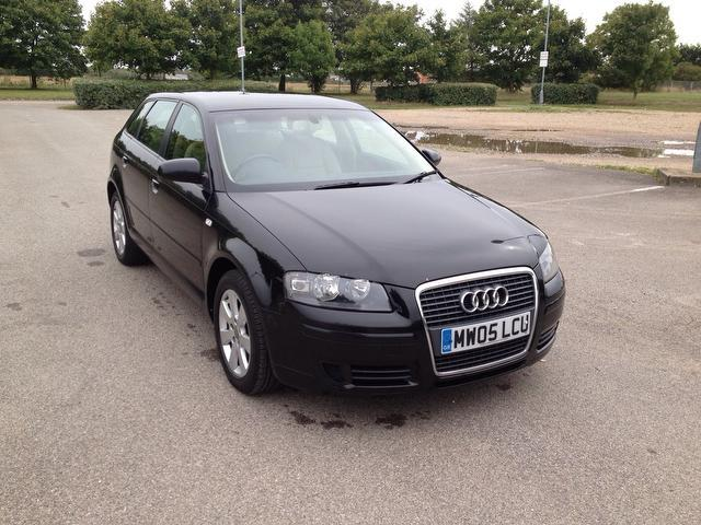 used audi a3 2005 black paint diesel 2 0 tdi se 5dr hatchback for sale in ashford uk autopazar. Black Bedroom Furniture Sets. Home Design Ideas