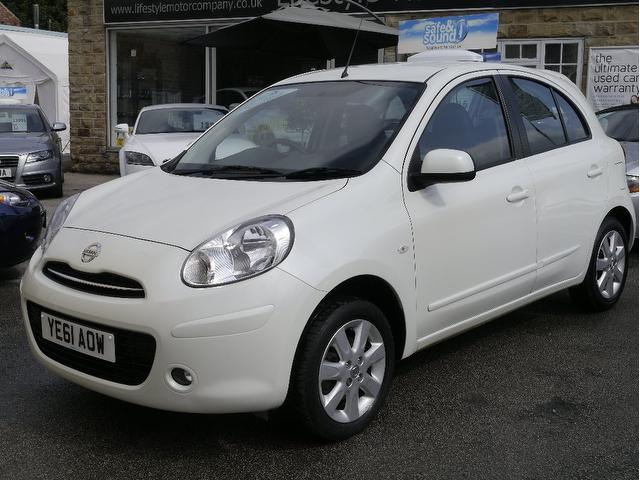 Used Nissan Micra 2011 White Hatchback Petrol Manual for Sale