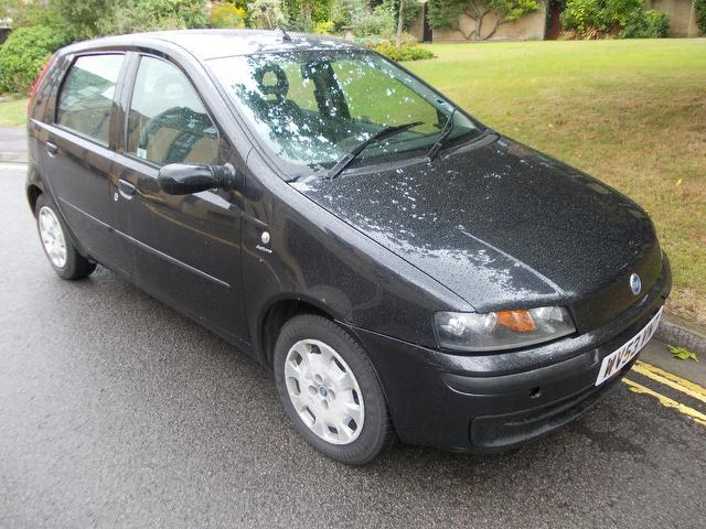 used black fiat punto 2003 petrol 1 2 5 million 5dr hatchback in great condition for sale. Black Bedroom Furniture Sets. Home Design Ideas