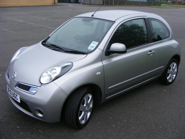 Used Nissan Micra 1.2 Acenta 3 Door Auto Hatchback Silver 2010 Petrol for Sale in UK