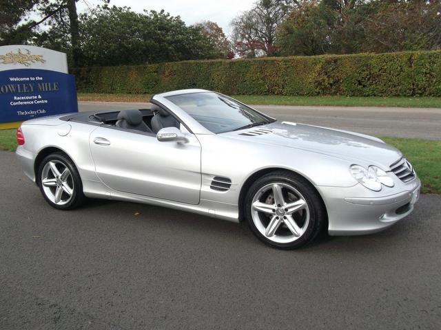Used mercedes benz 2003 silver paint petrol class sl 350 for Used convertible mercedes benz for sale