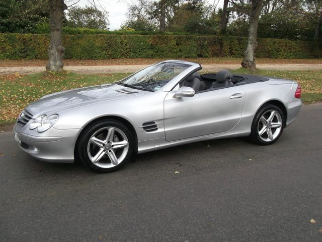 Used mercedes benz 2003 silver paint petrol class sl 350 for Used mercedes benz sl for sale