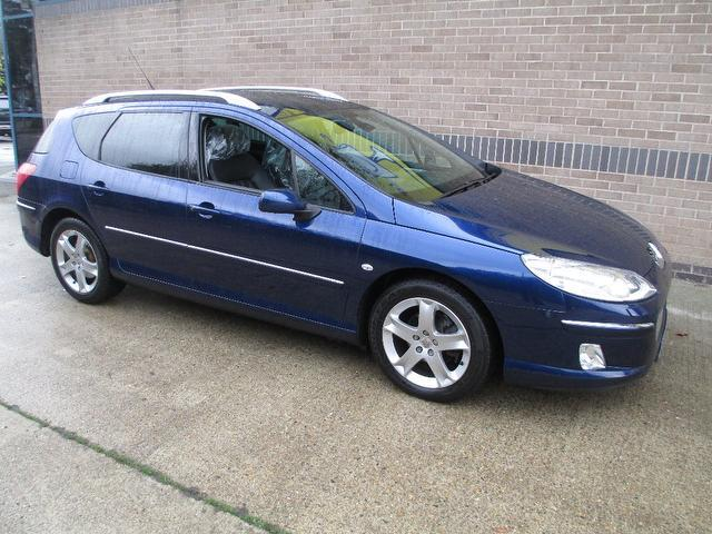 Used Peugeot 407 2007 Blue Estate Diesel Automatic for Sale