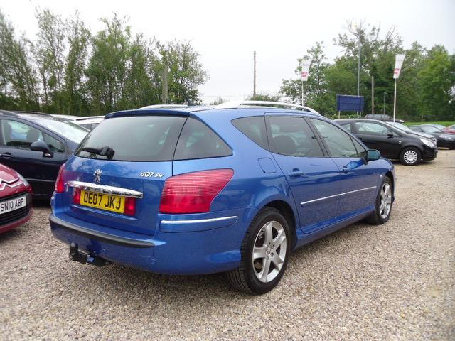 used peugeot 407 2007 blue colour diesel 2 2 hdi 170 gt estate for sale in nuneaton uk autopazar. Black Bedroom Furniture Sets. Home Design Ideas