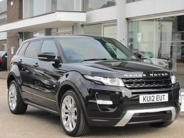 used land rover range 2012 automatic petrol evoque 2 0 black for sale uk autopazar. Black Bedroom Furniture Sets. Home Design Ideas