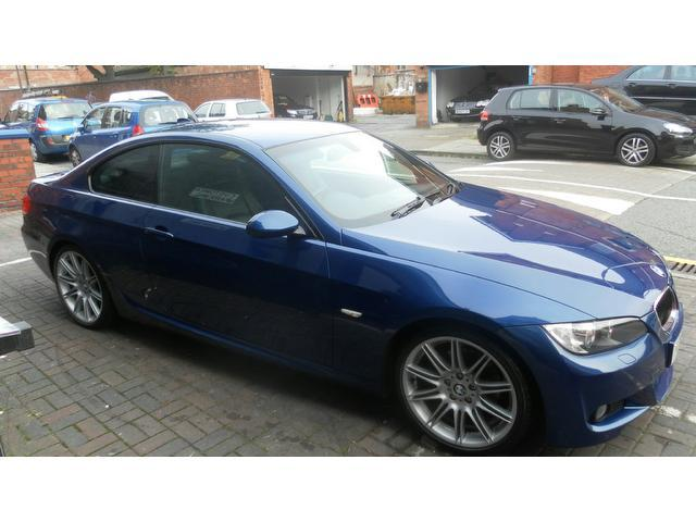 used bmw 3 series 2008 diesel 320d m sport coupe blue edition for sale in stockport uk autopazar. Black Bedroom Furniture Sets. Home Design Ideas