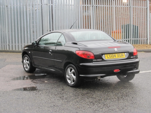 Used Peugeot 206 Cc  Black 2004 Petrol for Sale in UK