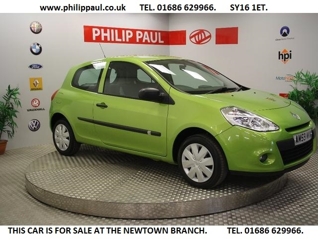 Used Renault Clio 2009 Green Hatchback Petrol Manual for Sale
