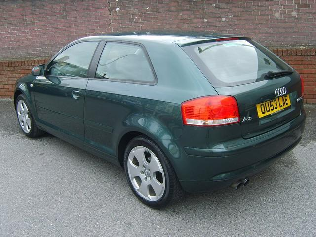 used audi a3 2003 green paint petrol 2 0 fsi sport 3dr hatchback for sale in southampton uk. Black Bedroom Furniture Sets. Home Design Ideas