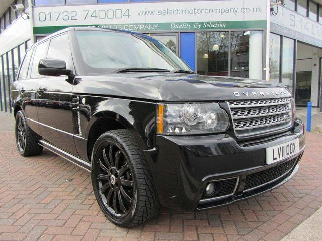 used land rover 2011 range 4 4 tdv8 black for sale in sevenoaks uk autopazar. Black Bedroom Furniture Sets. Home Design Ideas