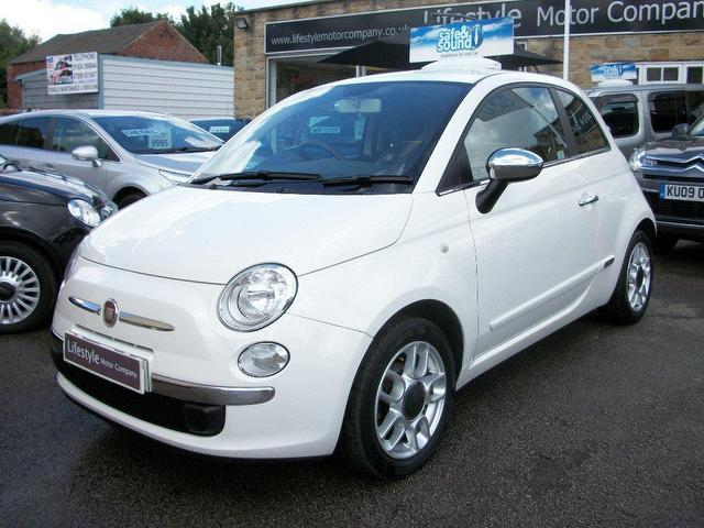used fiat 500 2009 white hatchback petrol manual for sale