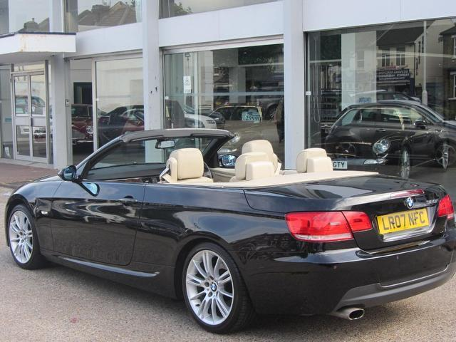 used bmw 3 series 2007 black paint petrol 320i m sport convertible for sale in sevenoaks uk. Black Bedroom Furniture Sets. Home Design Ideas