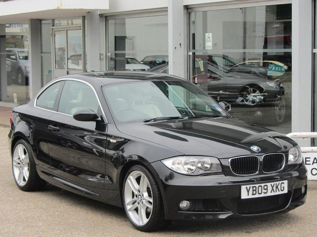 used black bmw 1 series 2009 diesel 120d m sport coupe excellent