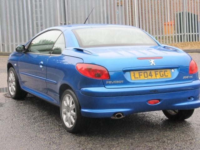 Used Peugeot 206 Cc  Blue 2004 Petrol for Sale in UK