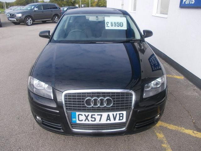 Used Audi A3 1.6 Special Edition 3 Door Hatchback Black 2007 Petrol for Sale in UK