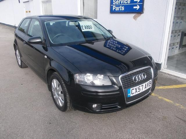 Used Audi A3 2007 Black Hatchback Petrol Manual for Sale