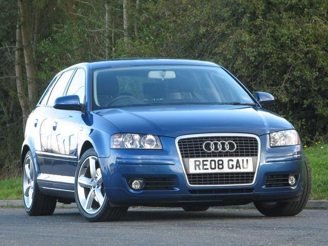 Used Audi A3 2.0 Tdi Sport 5 Door Hatchback Blue 2008 Diesel for Sale in UK