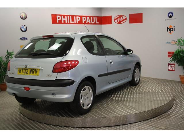 Used Peugeot 206 1.1 Look2 3 Door [ac] Hatchback Silver 2002 Petrol for Sale in UK