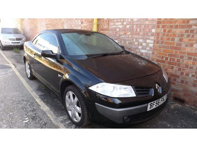 Used Renault Megane 1.9 Dci Dynamique 2 Door Convertible Black 2006 Diesel for Sale in UK