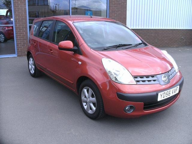 used nissan note 2006 petrol 1 4 se 5dr hatchback orange manual for sale in oswestry uk autopazar. Black Bedroom Furniture Sets. Home Design Ideas