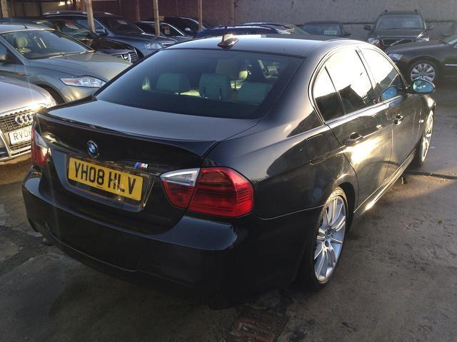 used bmw 3 series 2008 diesel 320d m sport saloon black with full service history for sale. Black Bedroom Furniture Sets. Home Design Ideas